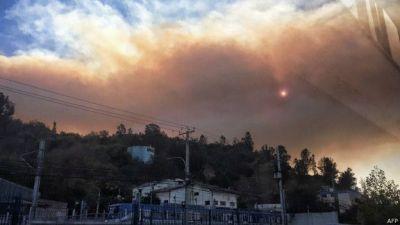 Incendio en Valparaíso - AFP