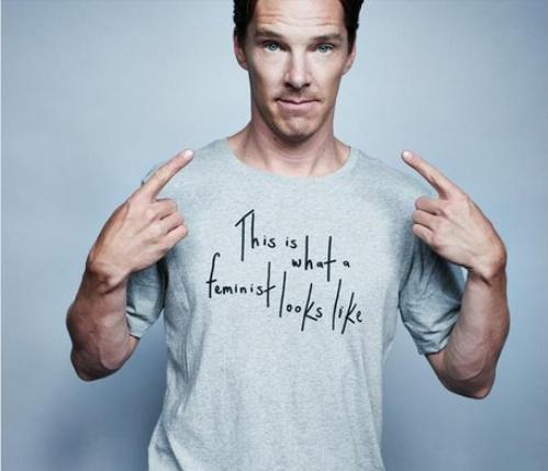 Here's Benedict Cumberbatch in a Feminist T-Shirt Picture @ELLEUK